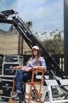Это я в кресле режиссера на студии Universal в Лос-Анджелесе