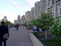 Новые районы Киева,..у берега Днепра. Вся набережная буквально пронизана тонким ароматом цветущего жасмина...