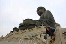 Большая бронзовая статуя Большого Будды символизирует гармонию отношений между человеком и природой, между людьми и религией