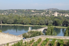 У  Папского дворца раскинулись сады Роше-де-Дом. Они расположены на высоком берегу Роны. Отсюда открывается прекрасный вид на Авиньон, соседний Вильнев-ле-Авиньон ...