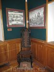 старый стул и гравюры (еще один уголок музея)