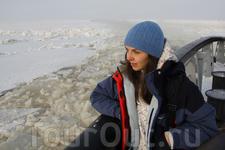 наблюдаю за разломом льда