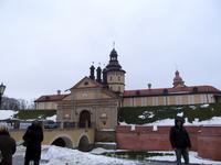 Несвижский замок. Вид со стороны дамбы