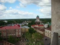 Вид с Часовой башни на Выборг