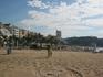 центральный пляж Lloreta  9 часов утра