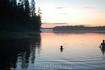 Третье Рощинское озеро поздним летним вечером. Вика плавает и пугает рыб, предназначенных отцом в скорейшем будущем на уху.