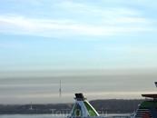 Телебашня Таллина в тумане