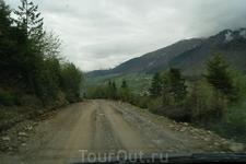 Дорога из Ушгули.