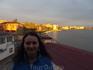 Закат над озером. Махачкала. Вид с балкона номера.