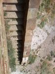 Генуэзская крепость. Тайная лестница для вылазок и бегства из крепости. Вид сверху вниз.
