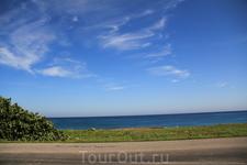 каменистое побережье, карибская сторона