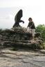 символ Кавминвод - орел (оздоровительные мероприятия) побеждает змею (болезнь)
