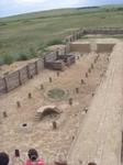 реконструкция жилища в Аркаиме, 1:1