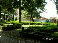парк в центре городка