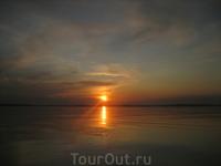 закат на Ладоге очень красив