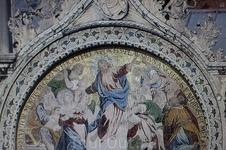 Мозаика на фронтоне. Вознесение Христово.