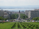 Вид из городского парка на старый город