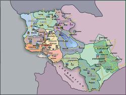Карта Армении с достопримечательностями