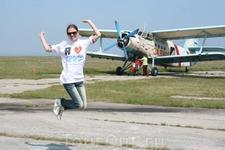 После первого прыжка с парашютом!
