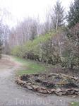 Аллея парка и цветник. В усадебном парковом ансамбле более 300 кустов роз. Все ухожено, в идеальном состоянии. По правой стороне великолепная сиреневая ...