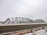 Железнодорожный мост через Днестр. В честь дружбы между Россией и ПМР он раскрашен в цвета флагов двух стран,хотя на фото это видно плохо