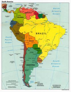 Перу на карте