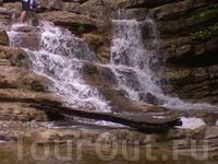 коварный мокрый мостик!... но вода была на удивление теплой!