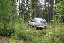 «Экстрим Шеви» пробирается в чащу леса...