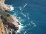 Вид сверху на Средиземное море