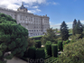 Дворец и вид на парк, точнее, сады Сабатини.