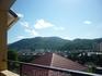 Вид с балкона на горы в п.Лазаревское