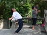 гора Байюнь в парках пенсионеры занимаются сортом или танцуют