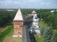 вид с башни Кокуй на Кремлевские стены