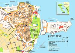 Карта Керкиры