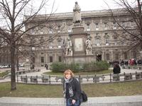Милан,памятник Леонардо