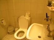 пол туалетной комнаты