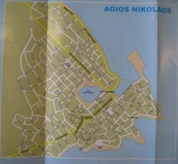 Карта-схема Агиос Николаоса