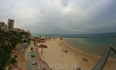 Вид на пляж и город. Нетания