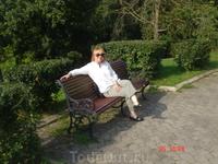 я на скамеечке в парке