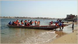 прибытие лодки на о-в Нгор