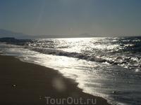 вечернее море на крите