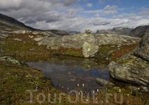 В горах недалеко от Гейрангер Фьорда