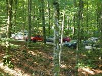парковка по среди леса на Плитвицких озерах!!!