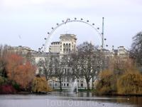 А это вид в противоположную сторону, в стороны Темзы и зданий Парламента.