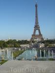 Вид на Эйфелеву башню с Трокадеро