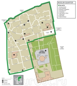 Схема мусульманского квартала