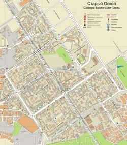 Карта Старого Оскола (Северо-Восточная часть)