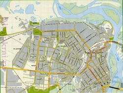 Карта Барнаула