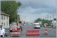 перекрёсток улиц: Ивана Франко и Калинина (идут работы по расширению улицы Калинина)