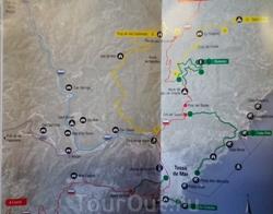 Карта пеших маршрутов в Тоссе